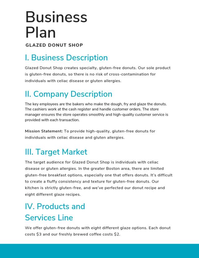 How To Write A Business Description Example