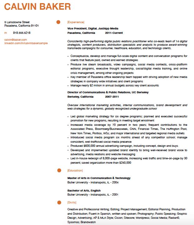 baker resume