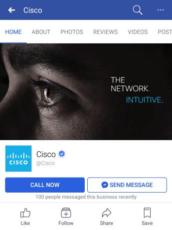 cisco on facebook mobile