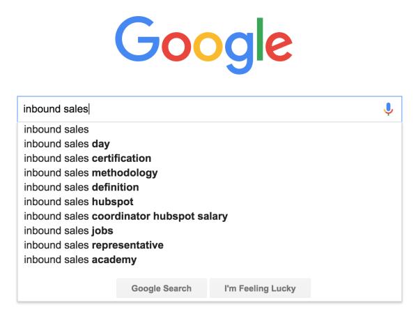 google search inbound sales
