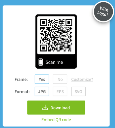 Customize your QR code with a logo