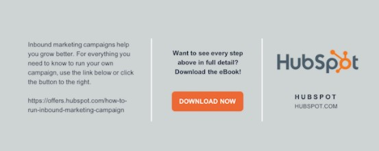 infographic footer customized with HubSpot's logo and brand information