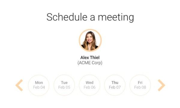 demodesk scheduling date picker interface