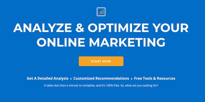 Homepage of Digital Marketing Tuner, a marketing tool by OverGo Studio