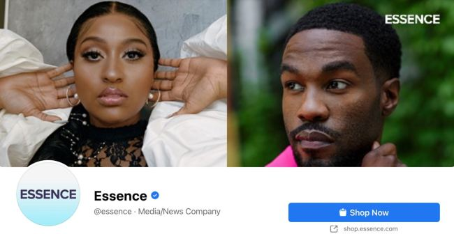 Facebook Page cover from Essence's FB Page