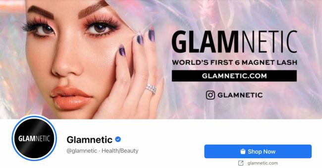 Facebook Page cover from Glamnetic's FB Page