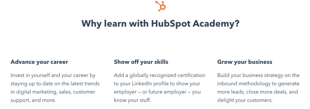 hubspot academy messaging example