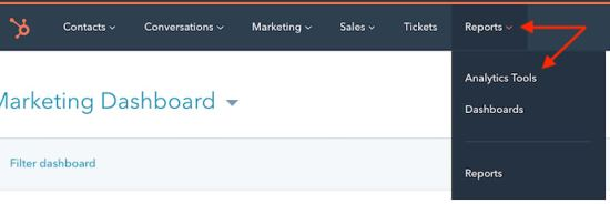 How to build UTM code in HubSpot: Navigate to your analysis tool