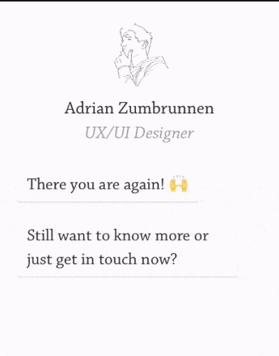 mobile website design: personal website homepage