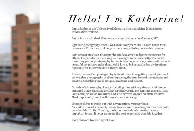Professional background example by Katherine Gundlach