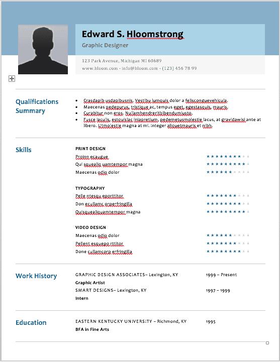 google doc resume template it