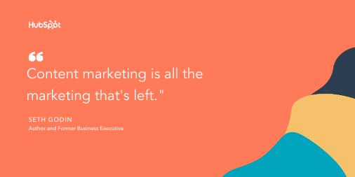 Content marketing tip by Seth Godin: