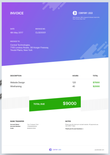 soft-banner-invoice-template
