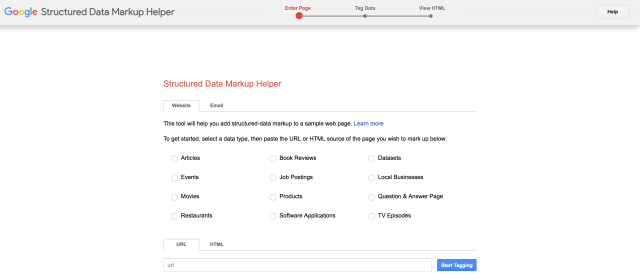 structured data google markup tool