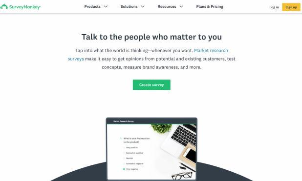 SurveyMonkey market research tool for surveying panelists