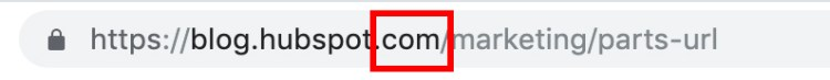 parts of a url: top-level domain