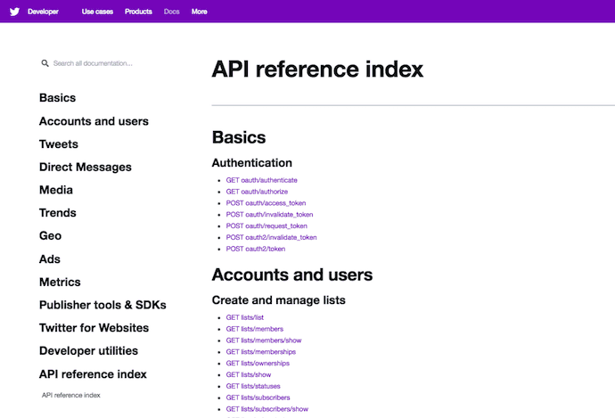 twitter-api-reference-index