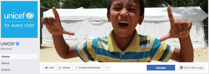 unicef-facebook-business-page