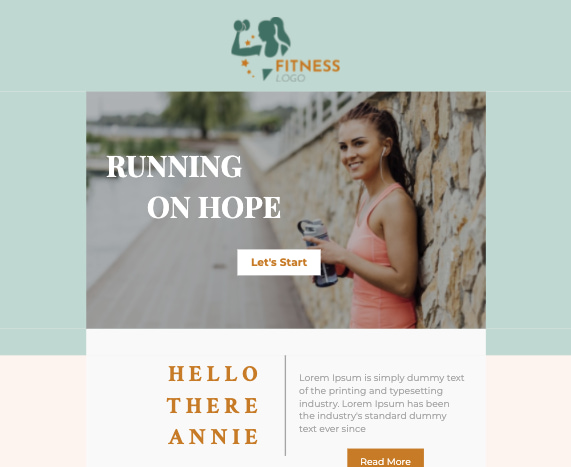 Free HTML email template by Unlayer