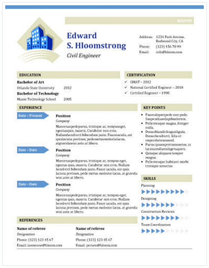 Resume Templates To Download For Word