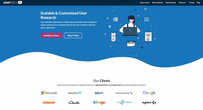 Userlytics usability testing platform for market research