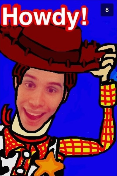 Easy Snapchat drawing of Woody from Toy Story