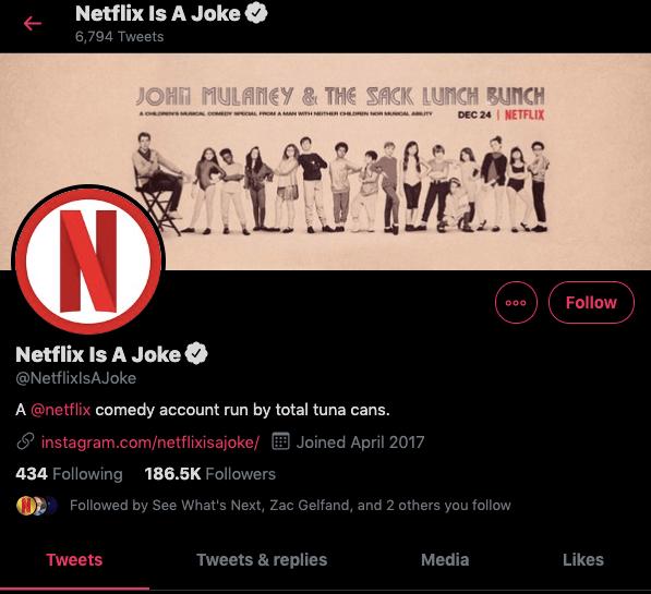 Netflix is a Joke homepage