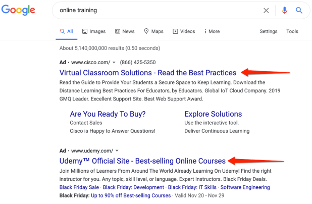 search results for online training