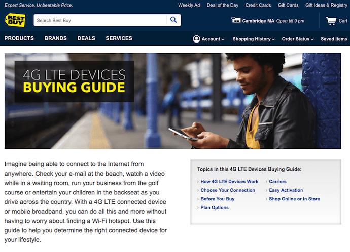 BestBuy ecommerce buying guides