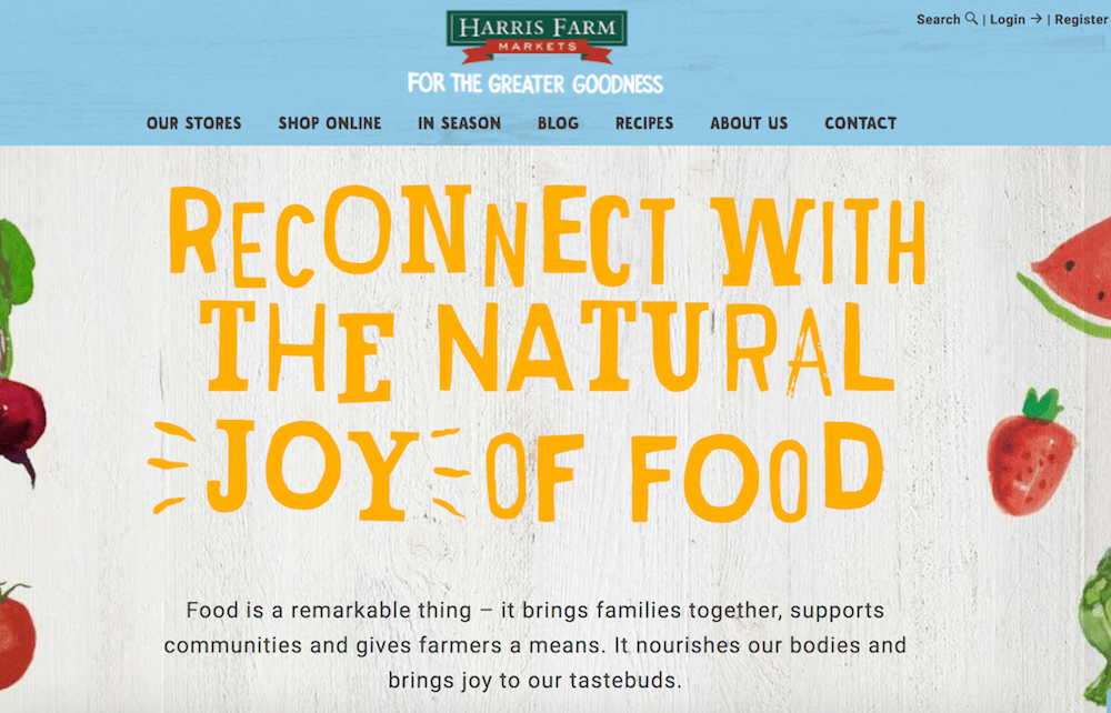 Harris Farm Markets Shopify store  16 of the Best Shopify Stores to Inspire Your Own harrisfarms
