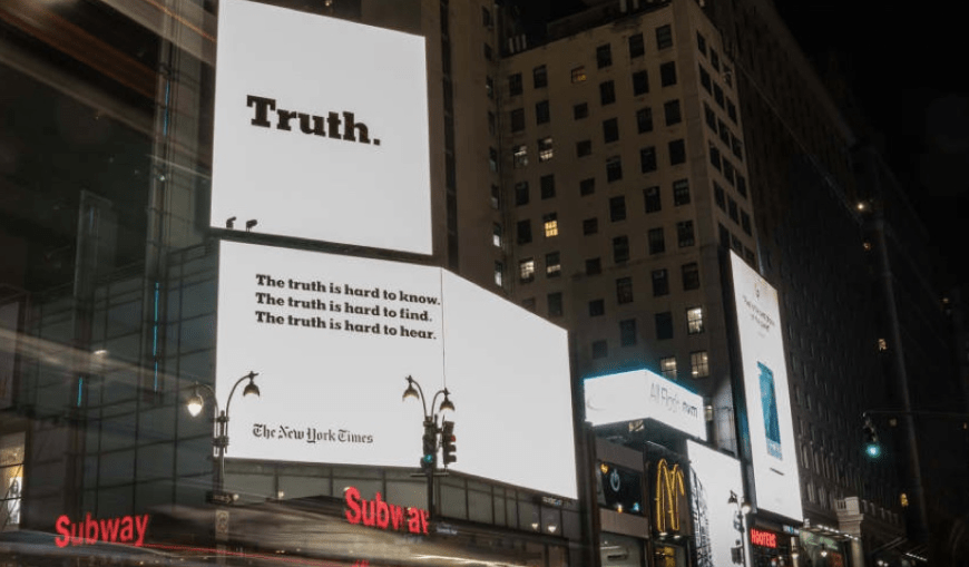 integrated marketing campaigns: The New York Times
