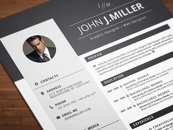 neat and confident resume template