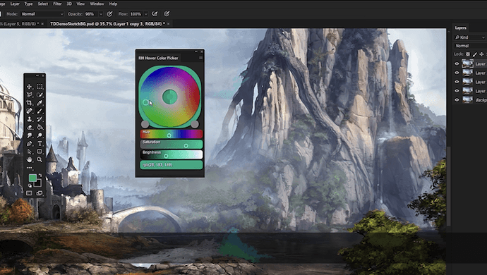 RH Hover Color Picker Photoshop plugin