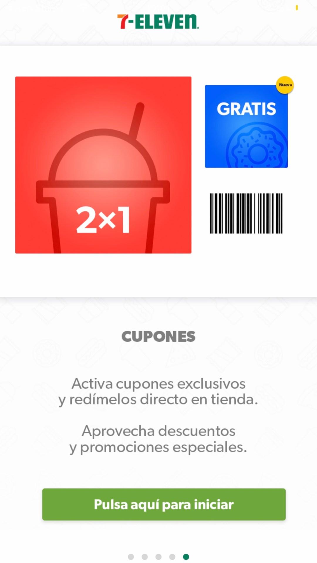 Ejemplo de cupón en aplicación de 7-Eleven