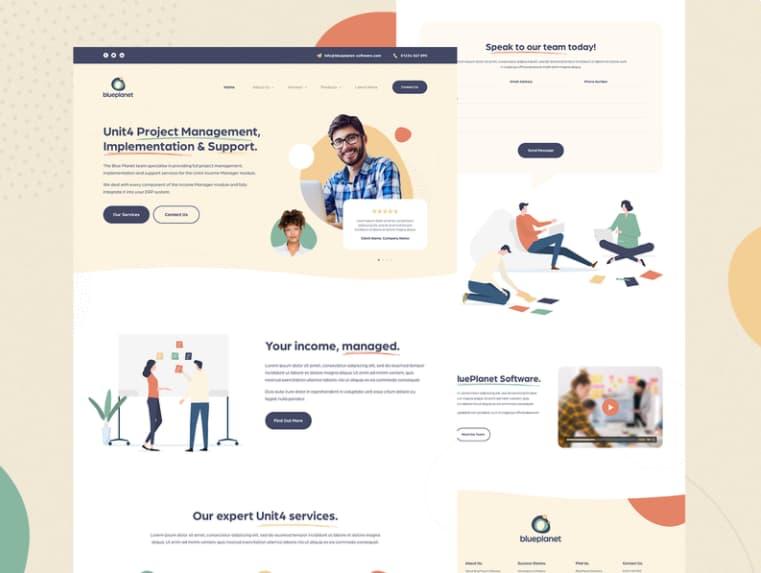 Tendencias de diseño web: uso de colores tenues