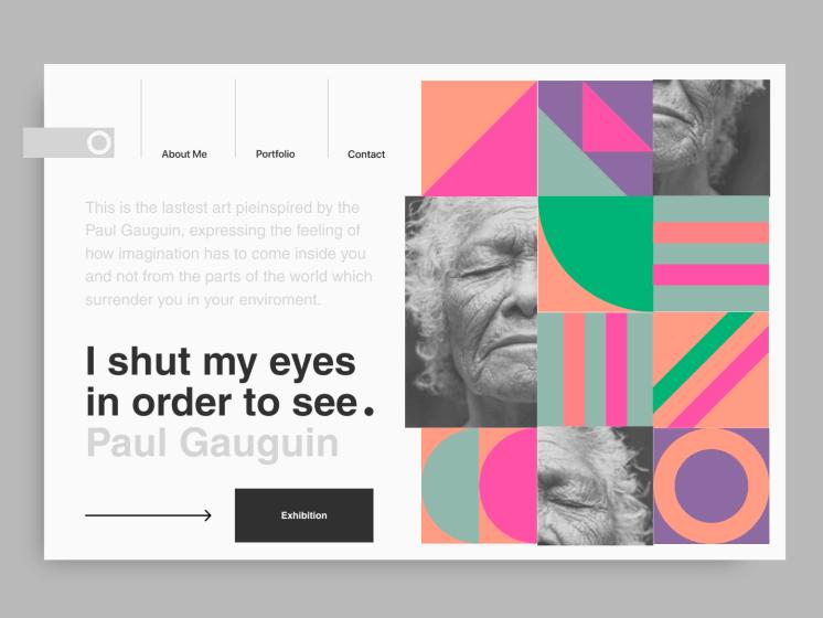 Tendencias de diseño web en 2021: composiciones de arte abstracto