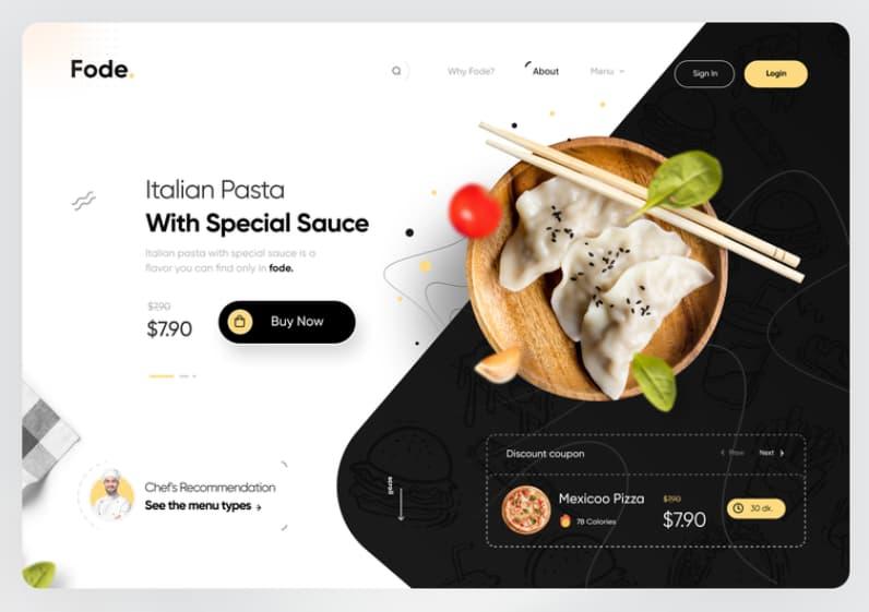 Tendencias de diseño web en 2021: imágenes amplias