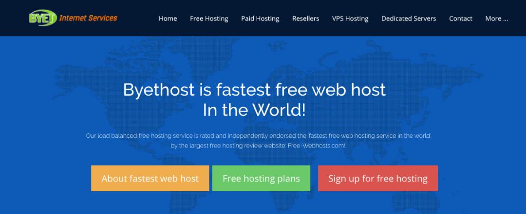 Bythost, sitio de hosting gratuito