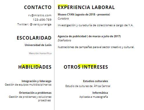 Cómo llenar un CV: habilidades e intereses