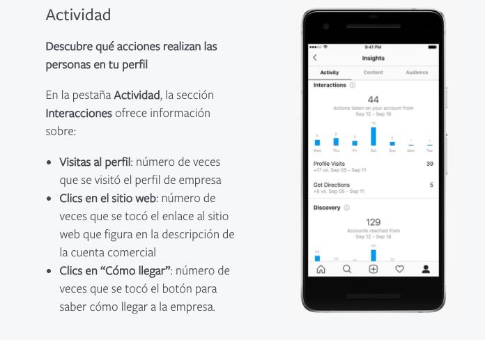 Software para mejorar y medir el engagement: Instagram Insights