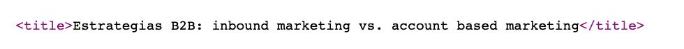 Etiqueta de HTML title
