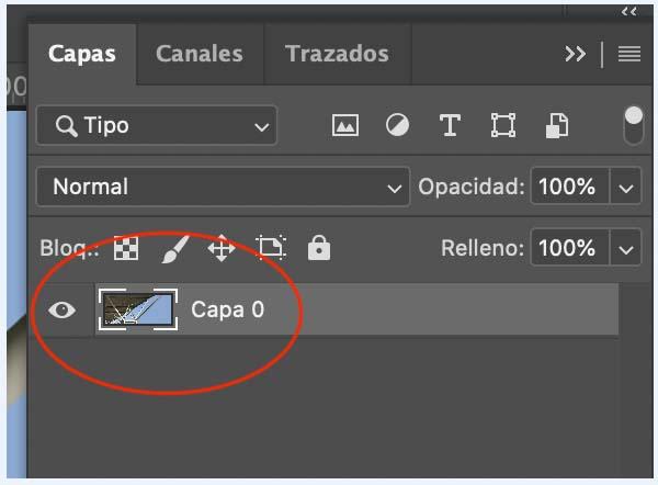 Capas de imagen en Photoshop para quitar el fondo