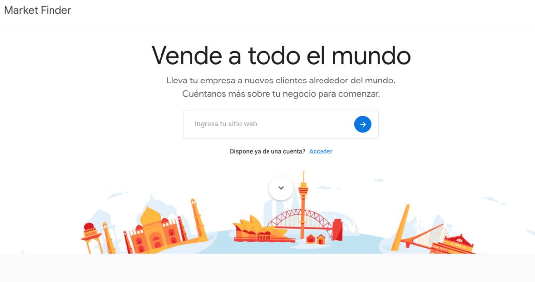 Cómo usar Google Market Finder: inicio