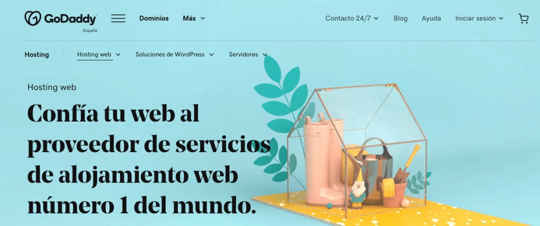 GoDaddy, sitio con servicio de alojamiento web