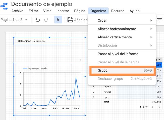 Opciones de rangos de fechas en Google Data Studio