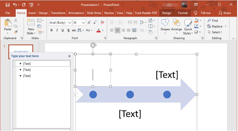 Cómo crear una línea del tiempo en PowerPoint: añade una descripción