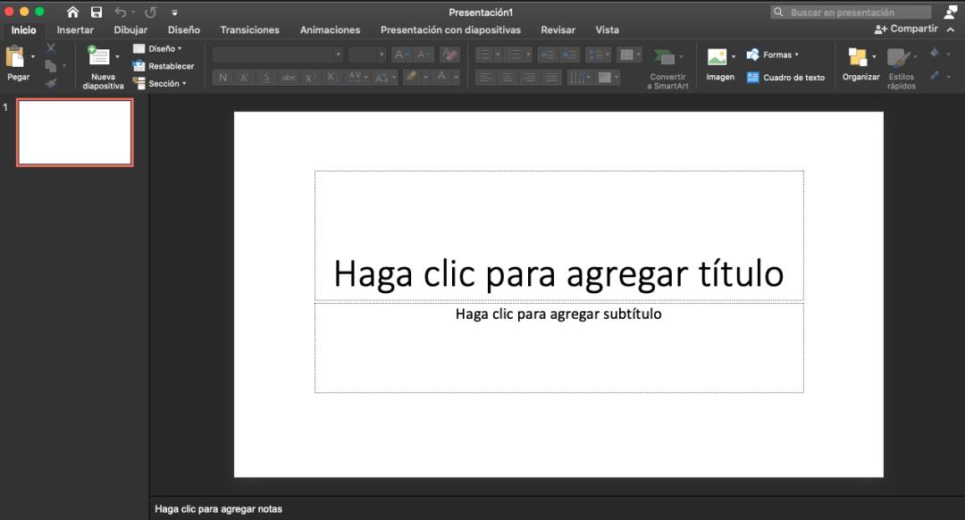 Elaborar plantillas en PowerPoint -  crear presentación en blanco