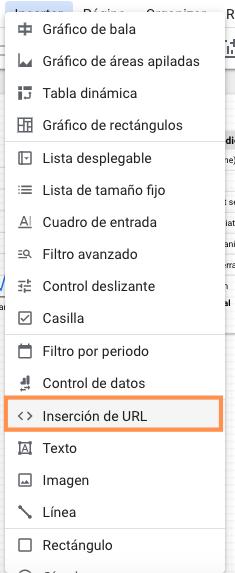 Inserción de URL en Google Data Studio