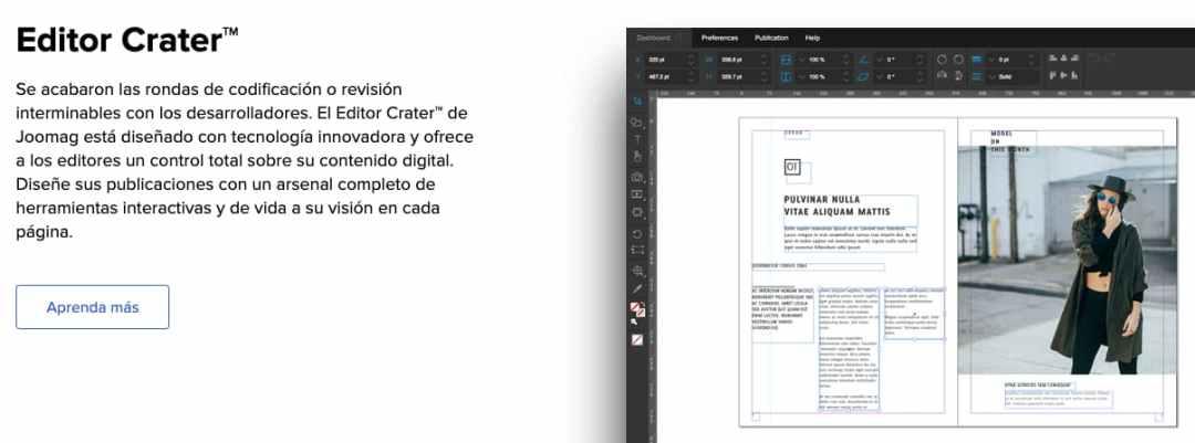 Función estrella de Joomag, herramienta para crear un catálogo digital