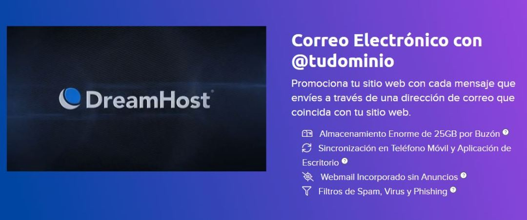 Email hosting: DreamHost